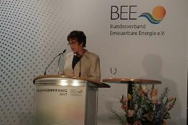 Bundeswirtschaftsministerin Zypries beim BEE-Neujahrsempfang in Berlin